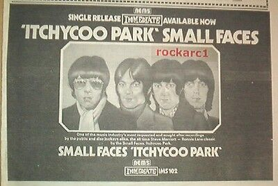 SMALL FACES Itchycoo Park 1975 UK Press ADVERT 12x8 Inches • 11.95£