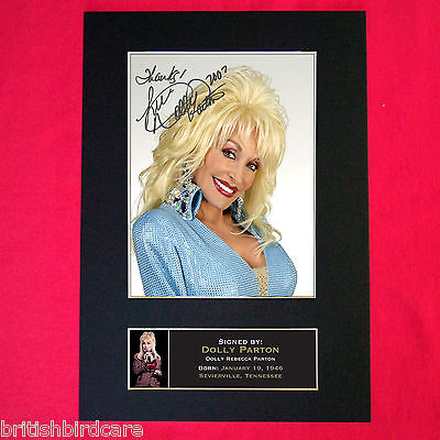 DOLLY PARTON Signed Reproduction Autograph Mounted Photo Print A4 239 • 17.99£