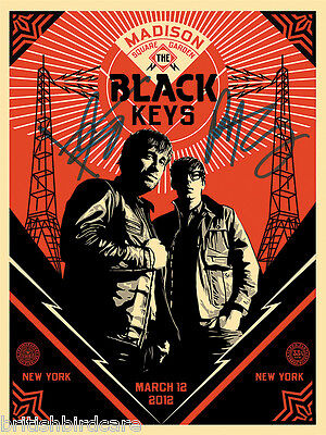 THE BLACK KEYS POSTER Quality Signed Autograph Madison Square Garden Concert • 17.99£