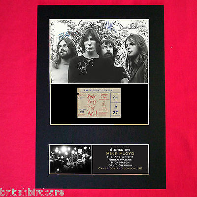 PINK FLOYD Signed Reproduction Autograph Mounted Photo Print A4 193 • 5.99£