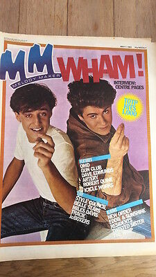 WHAM (George Michael)  Finger Clicking 1983 FRAMEABLE Newspaper Cover ONLY! • 24.95£