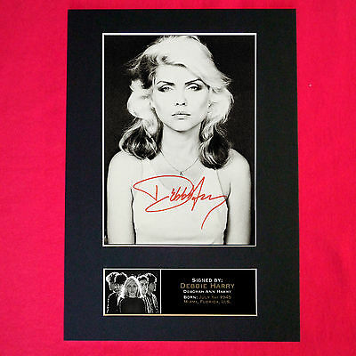 DEBBIE HARRY BLONDIE Signed Reproduction Autograph Mounted Photo Print A4 221 • 6.99£