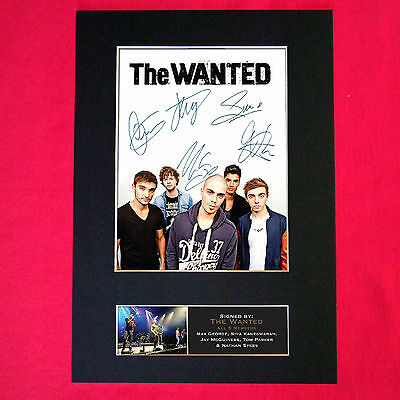 THE WANTED Mounted Signed Photo Reproduction Autograph Print A4 208 • 5.99£