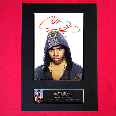 CHRIS BROWN Signed Reproduction Autograph Mounted Photo Print A4 96 • 17.99£