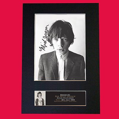 MICK JAGGER Signed Reproduction Autograph Mounted Photo Print A4 644 • 5.99£