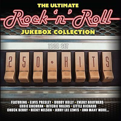 Rock N Roll 10 CDs 250 Hits The Ultimate Jukebox Collection Of 50s 60s Music New • 17.95£