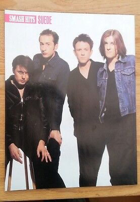 SUEDE 'Smash Hits' Magazine PHOTO/Poster/clipping 11x8 Inches • 5.95£
