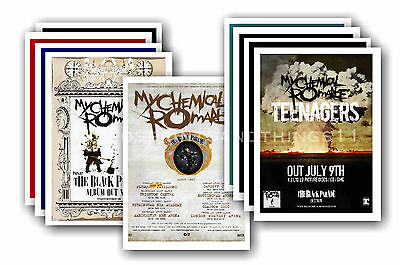 MY CHEMICAL ROMANCE  - 10 Promotional Posters - Collectable Postcard Set # 2 • 5.99£