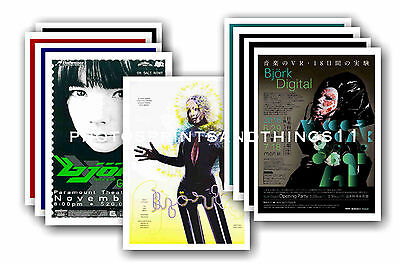 BJORK  - 10 Promotional Posters  Collectable Postcard Set # 1 • 5.99£