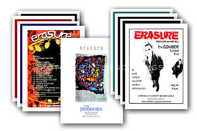 ERASURE - 10 Promotional Posters  Collectable Postcard Set # 1 • 5.99£