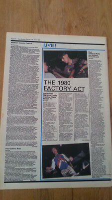 JOY DIVISION 'at The Moonlight Club' 1980 ARTICLE / Clipping • 9.95£