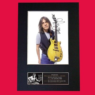 MALCOLM YOUNG ACDC Signed Reproduction Autograph Mounted Photo Print A4 690 • 17.99£