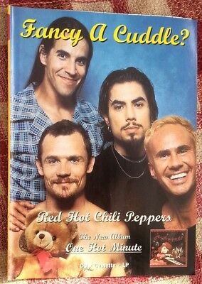 RED HOT CHILI PEPPERS One Hot Minute 1995 Magazine ADVERT / Poster 11x8 Inches • 7.95£