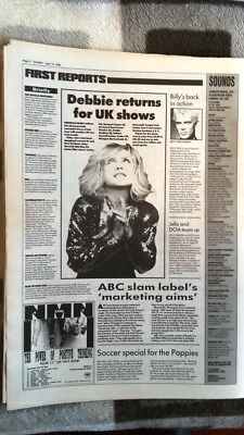BLONDIE Debbie Harry 1990 Tour News  ARTICLE / Clipping • 9.95£