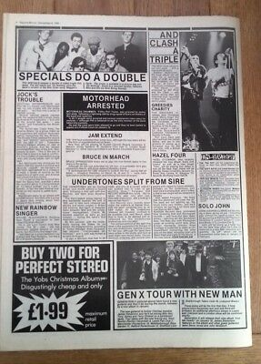 CLASH SPECIALS GENERATION X  'news' 1980 ARTICLE / Clipping • 9.95£