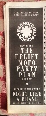 RED HOT CHILI PEPPERS 'Mofo Party Plan' 1988 Poster Size Press ADVERT 16x6 Inch • 9.95£