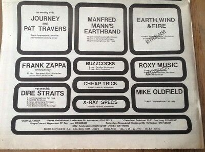 MIKE OLDFIELD DIRE STRAITS Dutch Concerts 1979 Press ADVERT 12x8 Inches • 11.95£