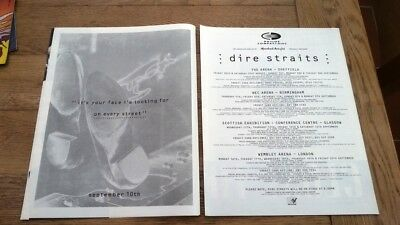 DIRE STRAITS On Every Street Tour 1991/92 UK Press ADVERT 12x10 Inches • 9.95£