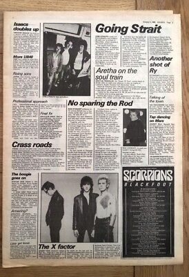 DIRE STRAITS ROD STEWART GENERATION X 'news' 1980 ARTICLE / Clipping • 9.95£