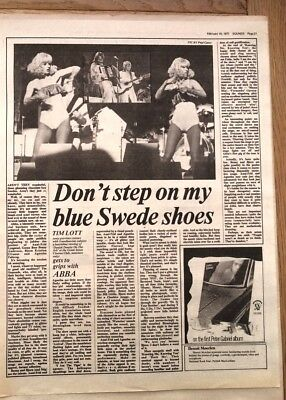 ABBA 'blue Swede Shoes' 1977 ARTICLE / Clipping • 9.95£