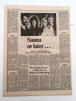 ABBA 'sauna Or Later' 1976 UK ARTICLE / Clipping • 9.95£