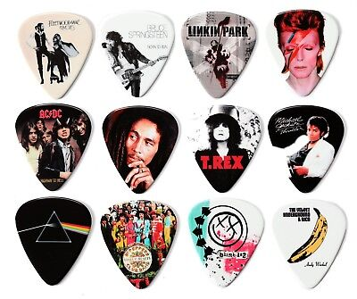 Iconic And Famous Album Covers 12 Guitar Picks Plectrums • 6.99£