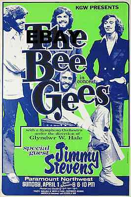 Bee Gees Paramount 16  X 12  Photo Repro Concert Poster • 5.50£