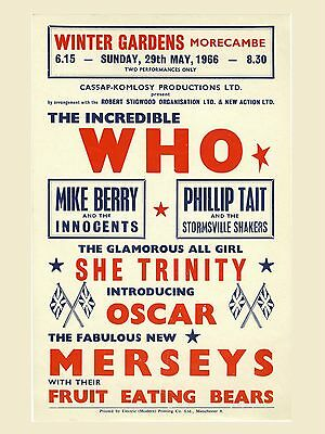 The Who Morecambe 16  X 12  Photo Repro Concert Poster • 5.50£
