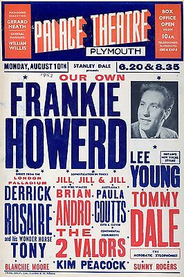 Frankie Howard Plymouth 16  X 12  Photo Repro Concert Poster • 5.50£
