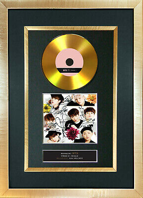 #175 BTS GOLD DISC I Need You U Single Cd Signed Repro Autograph Mounted Print • 8.99£