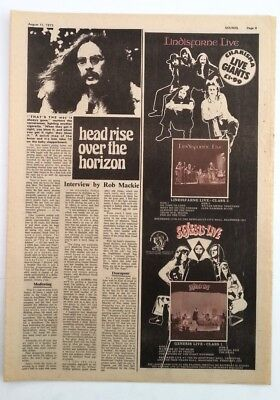 GENESIS 'Selling England Tour 1973' ORIGINAL Poster Size ADVERT Size:16x6 Inches • 17.95£