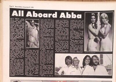 ABBA 'all Aboard' 1976  Press/ARTICLE/clipping • 9.95£