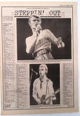 BOWIE / The JAM 'hit The Road' 1978 UK ARTICLE / Clipping • 11.95£