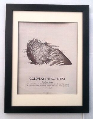 COLDPLAY The Scientist 2002*ORIGINAL*POSTER*AD*FRAMED*FAST WORLD SHIP • 69.95£
