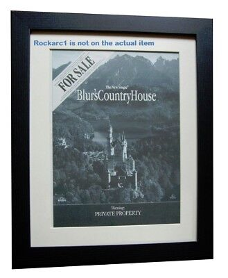 BLUR Country House 1998*ORIGINAL*POSTER*AD*FRAMED*FAST WORLD SHIP • 69.95£