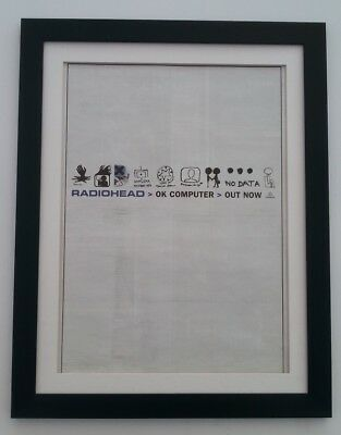 RADIOHEAD OK Computer 1997*ORIGINAL*POSTER*AD*FRAMED*FAST WORLD SHIP • 79.95£