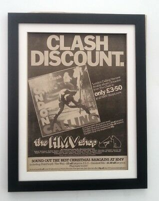The CLASH*London Calling*(HMV)*1979*ORIGINAL*POSTER*AD*FRAMED*FAST WORLD SHIP • 79.95£
