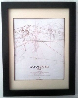 COLDPLAY*Live*2003*ORIGINAL*POSTER*AD*FRAMED*FAST WORLD SHIP • 64.95£