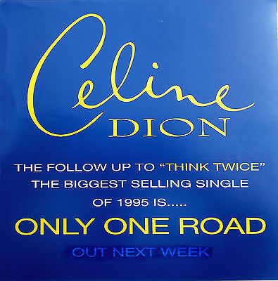 CELINE DION Display Only One Road UK PROMO ONLY Rare 12  X 12  Poster • 7.95£