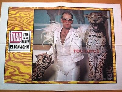 ELTON JOHN*and Leopards*1974*RARE*VINTAGE*POSTER*24x16 Inches*FREE WORLD SHIP • 49.95£