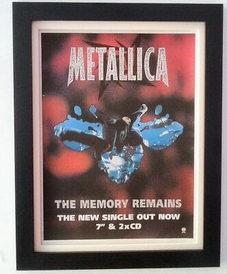 METALLICA*The Memory Remains*1997*ORIGINAL*POSTER*AD*FRAMED*FAST WORLD SHIP • 64.95£