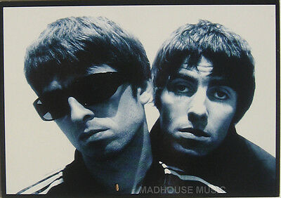 OASIS POSTCARD Liam & Noel OFFICIAL Vintage Orginal 1990s Pyramid PC3016 • 6.95£