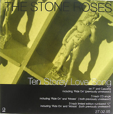 STONE ROSES Display Poster Ten Storey Love Song UK PROMO ONLY In-store • 9.95£