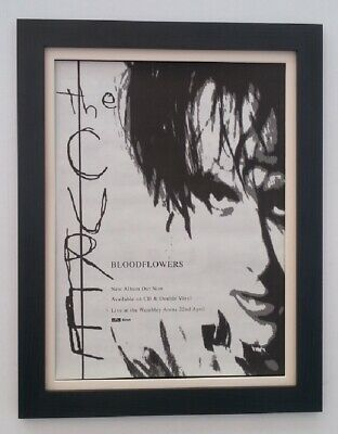 The CURE*Bloodflowers*2000*RARE*ORIGINAL*POSTER*AD*FRAMED*FAST WORLD SHIP • 69.95£