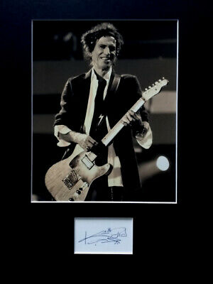 KEITH RICHARDS Signed Autograph PHOTO DISPLAY The Rolling Stones • 19.99£