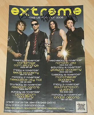 Extreme Fully Signed Poster • 65£