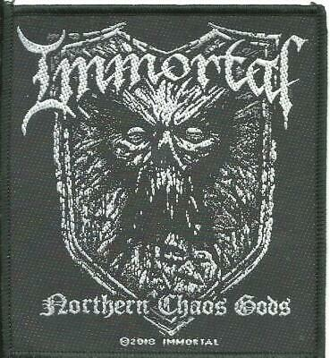 IMMORTAL Northern Chaos Gods 2018 - WOVEN SEW ON PATCH - Official Merchandise • 3.95£