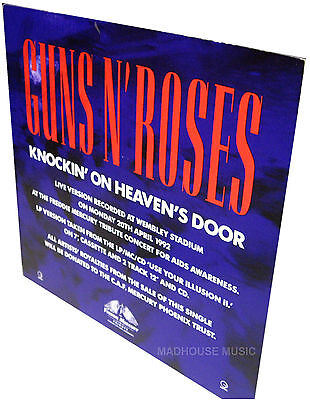 GUNS N ROSES Knockin' On Heaven's Door UK PROMO Only Standee DISPLAY Stand • 13.95£