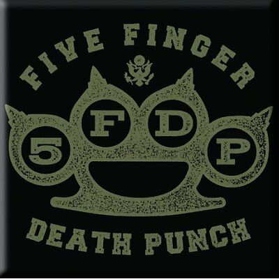 FIVE FINGER DEATH PUNCH Knuckle  Fridge Magnet 3  Square Metal Gift Free UK P&P • 1.99£