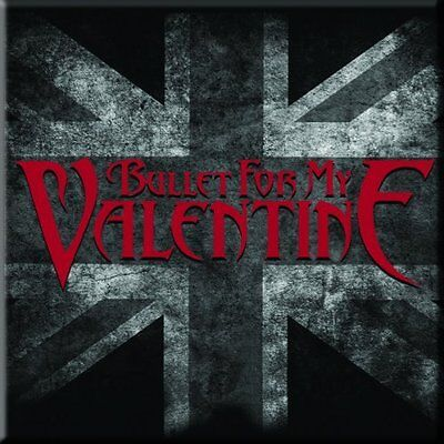 BULLET FOR MY VALENTINE UK Flag Fridge Magnet 3  Square Metal Gift Free UK P&P • 1.99£